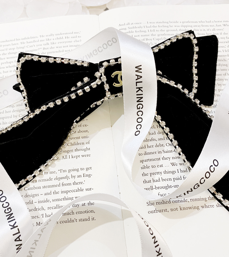 cha ribbon hair pin