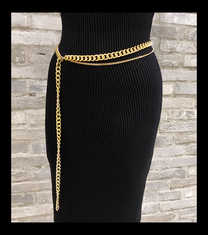 chic gold chain belt