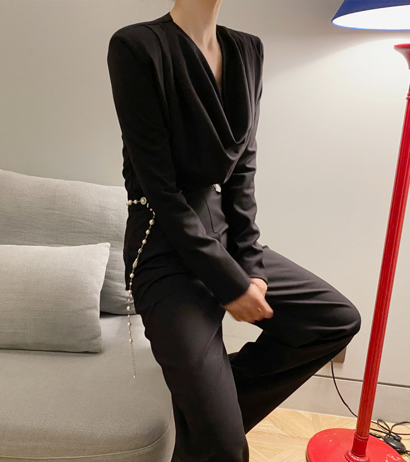 blair jump-suit (black)