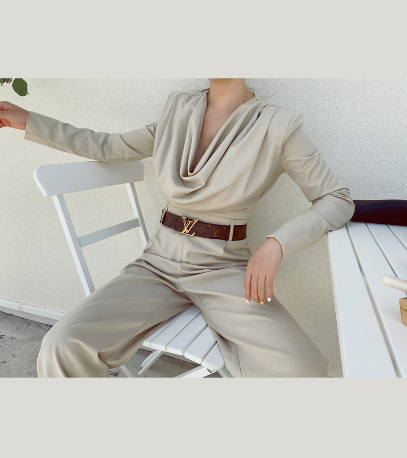 blair jump-suit (beige)