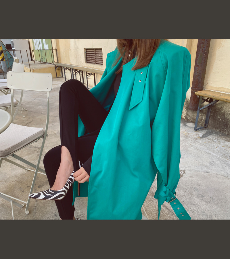 emerald balen trench coat