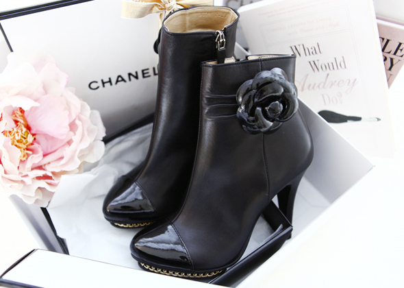 flower ankle (black)