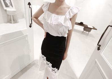 light ruffle blouse