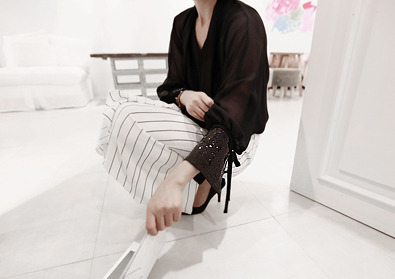 sequine blouse (black)